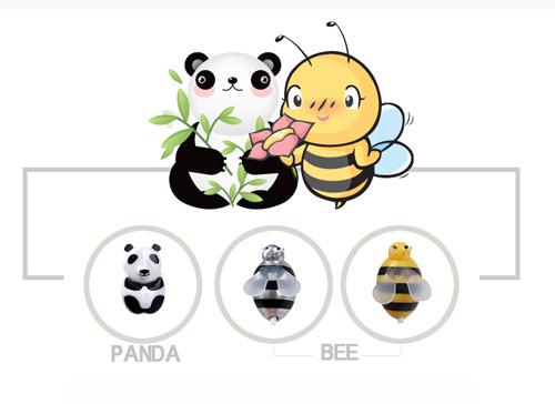 小蜜蜂大熊猫 韩系可爱耳机美女图赏
