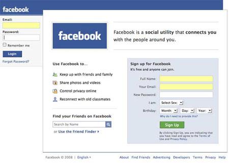 科技时代_Facebook推出新版登录页(图)