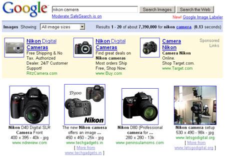 科技时代_谷歌开始测试图片搜索广告(图)