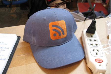 网志年会义卖RSS帽子