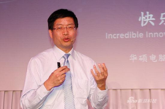 华硕全球CEO沈振来 (新浪科技 韩连巍/摄)