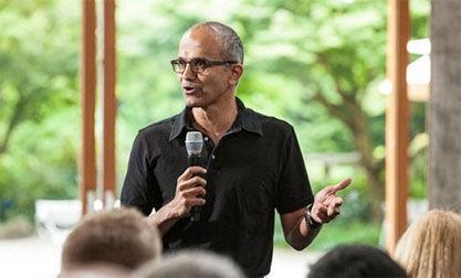 微软印度裔新任CEO萨提亚・纳德拉(Satya Nadella)。