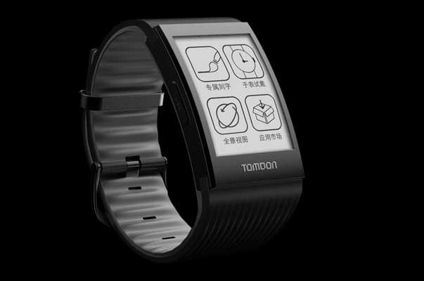 坚持采用e-ink电子墨水屏的第二代土曼T-FIRE手表