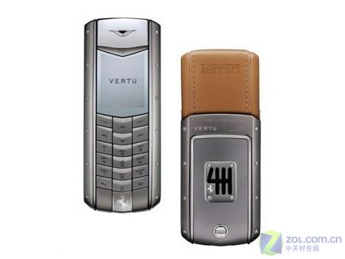 皮革钛金VERTU推法拉利60年纪念版手机