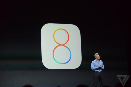 苹果公司最新一代移动操作系统iOS 8