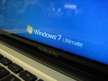 苹果笔记本运行Windows 7系统 组图图片