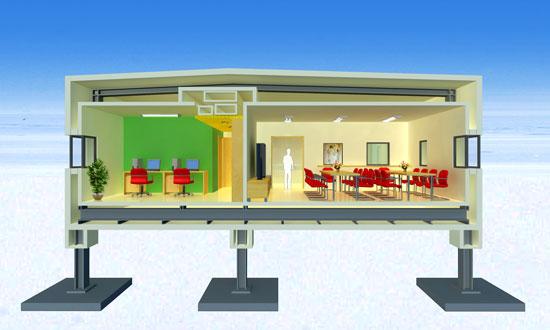 组图:我国首个南极内陆考察站内部结构