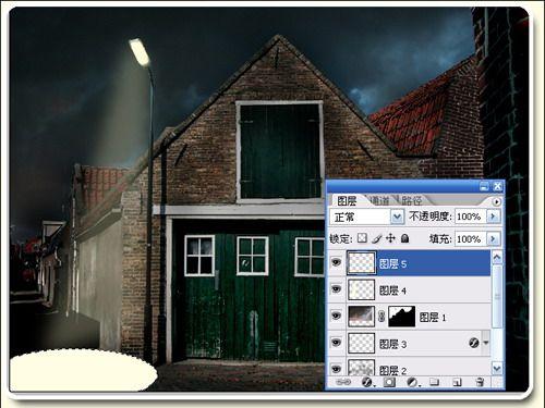 Photoshop合成教程:白天变迷人黑夜