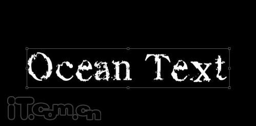 Photoshop制作黑暗的海洋艺术字效果_软件学