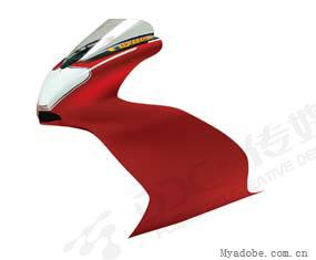 用Illustrator绘制红色炫动摩托车(2)