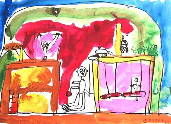 滇金丝猴月儿童绘画比赛优秀作品展示二(图)(7)