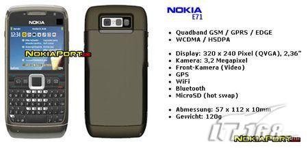 传四月发布诺基亚超薄手机E71再次曝光
