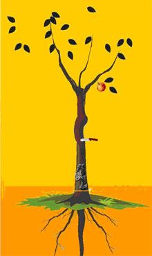 2、解释:见刀子者,遇黑灰叶树枝多反吉,配主根齐、见密果可稳定幸福