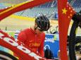 中国场地自行车队备战奥运车