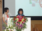 谷千惠代表母亲、音乐家谷建芬致辞