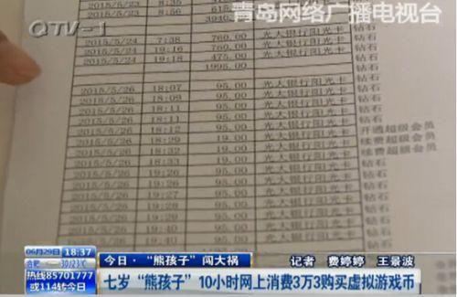 银行打印的消费详单