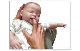"""""""手指抠""""的方法让孩子呕吐出来"""