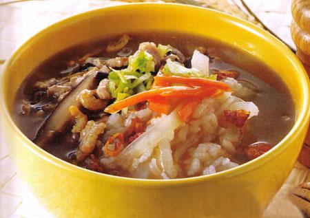 孕妈咪食谱:香菇肉粥(图)