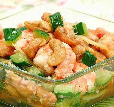 孕妇美食:虾仁腰果(图)