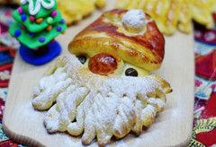 萌哒哒预热节日气氛--圣诞老人面包(图)