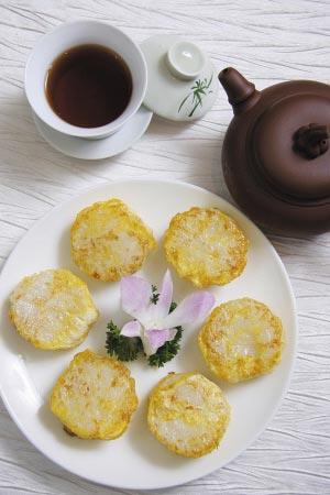 蛋煎伦漖糕 饭后点心配与清茶,且消消暑