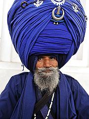 锡克族五彩头巾