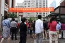 上海光明中学考点门口