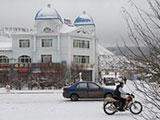 大兴安岭深处的雪后小镇