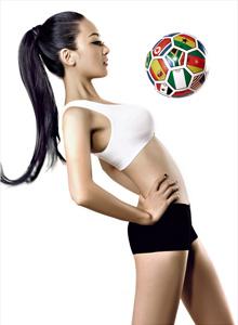 足球宝贝:女歌手于瑛楠