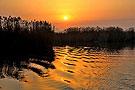 沙湖日出与黄河日落