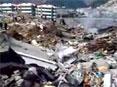 北川县城震后废墟全景