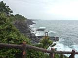 雨中的济州岛海景仍是漂亮