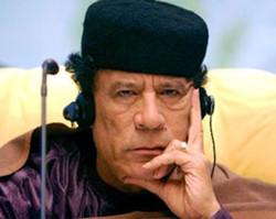 思考着统一大业的卡扎菲