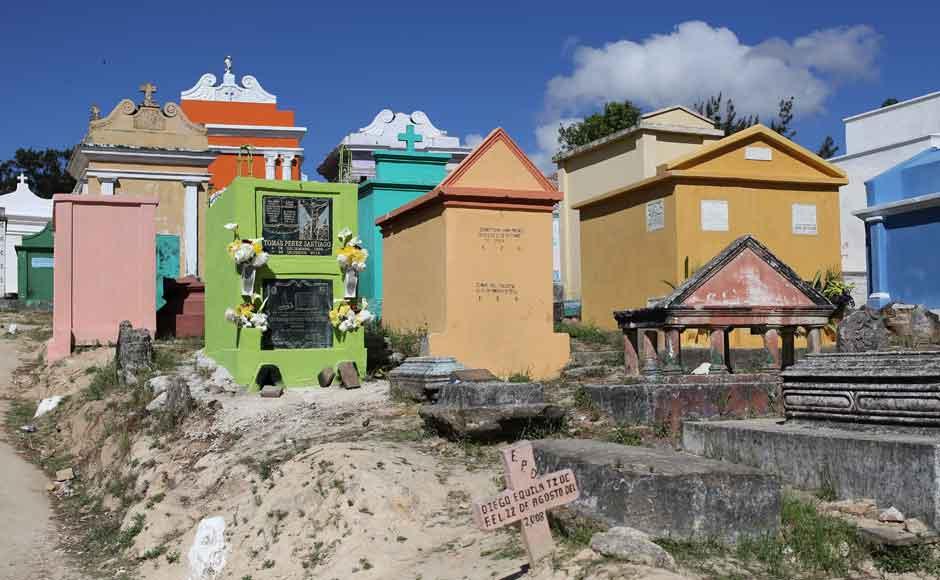 玛雅人的彩色墓碑