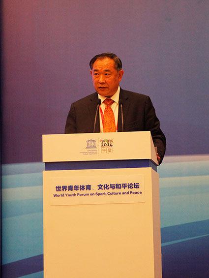 李若弘主席发表主题演讲