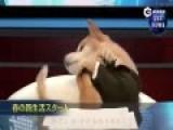 日本柴犬当新闻主播 镜头前不停卖萌