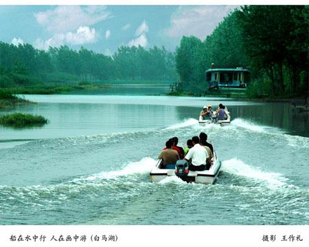 从洪泽湖风情摄影艺术展看淮安旅游