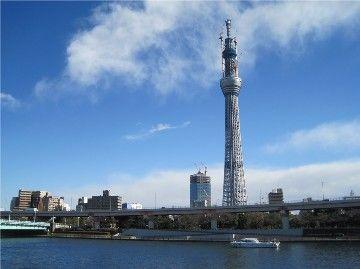 """""""天空树""""新东京塔实景。"""