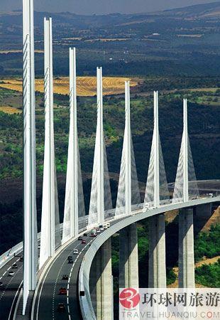 世界上最高的桥:法国,米洛高架桥