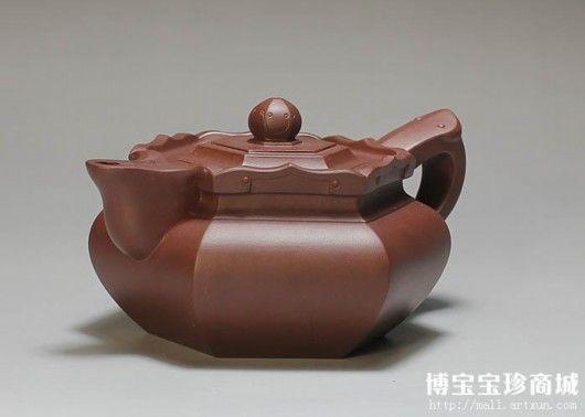 紫砂壶-陆伯勤僧帽壶(图片来源 博宝宝珍商城)