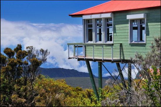 鸟瞰美景的小屋