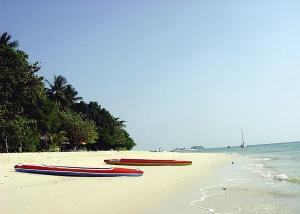 沙滩柔软,风光无限