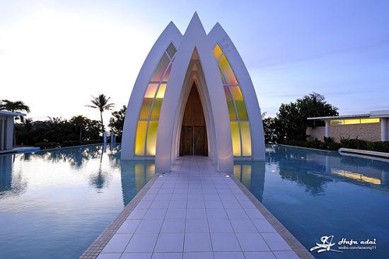 彩虹教堂,是亚洲最具人气的婚礼教堂。