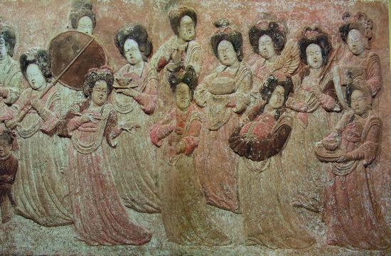 河北曲阳五代后梁龙德四年(924年)王处直墓后室东壁浮雕