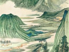 大千山水画的风格及市场