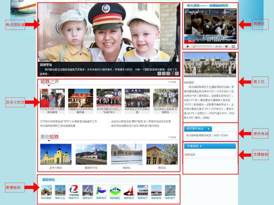 哈尔滨铁路局定制页