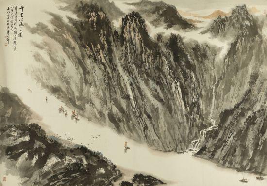 宋文治 (1919-1999) 千里江陵一日还   纸本镜心 1981年作  121.5×173cm