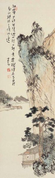 溥儒(1896-1963)山郭初霁