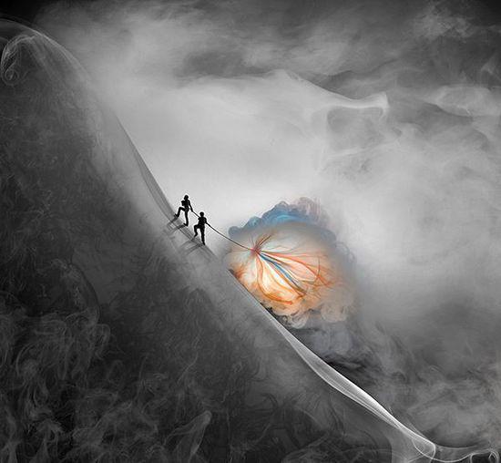 【创意摄影】看国外摄影师创意作品:烟雾的艺术