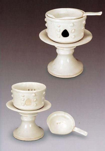 定窑白釉茶炉(晚唐-五代)